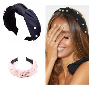 Damen Knoten Breit Haarreif Haarband Stirnband Kopfband Kopfschmuck Haarschmuck