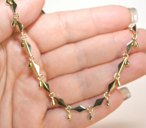 ALL TEARDROPS 14Kt GOLD CLAD BOND ANKLET ANKLE  BRACELET TEARDROPS SIZE  9 TO 12