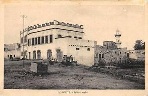 CPA-DJIBOUTI-MAISON-ARABE