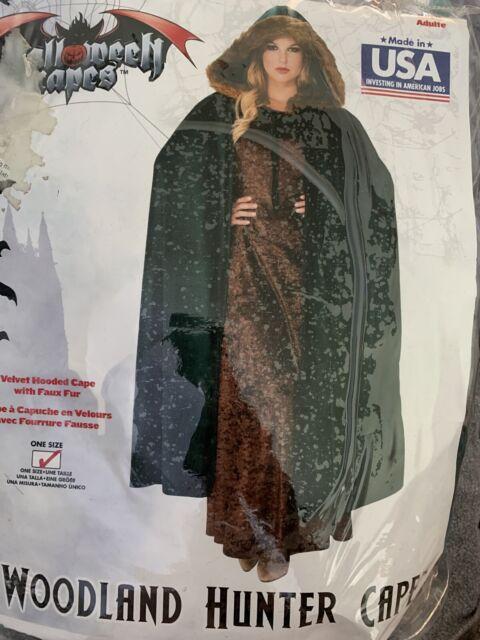 Woodland Hunter Cape Cloak Renaissance Maiden Medieval Costume