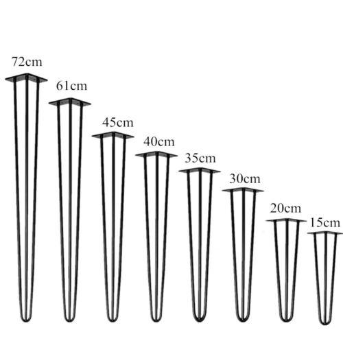4er Set Hairpin Legs DIY Tischkufen Esstisch Hairpins Tischbeine Haarnadelbeine