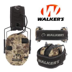 Walkers-Game-Ear-Razor-Slim-Shooting-Folding-Muff-Muffs-Electronic-Kryptek-Camo