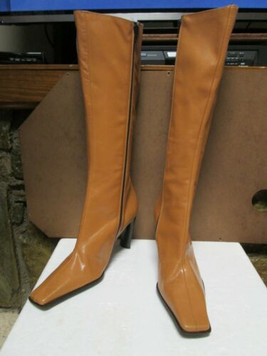 5 Guess High 8 Tan Knee Leather Size Boots t0rq1x0vw