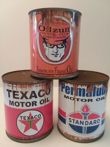 Rusty Polly Penn Motor Oil Can 1 qt - Reproduction Tin Collectible