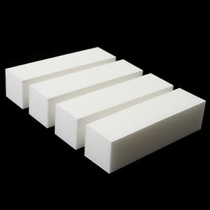 10-x-White-Nail-Art-Buffer-Buffing-Sanding-File-Block-For-Manicure-Pedicure-R