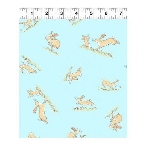 Fat Quarter Guess How Much I Love You 2018 Hares Blue Cotton Quilting Fabric