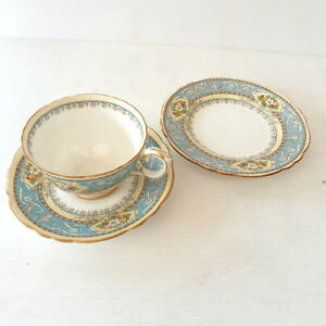 * Tasse The & Soucoupe & Assiette Anglaise Staffordshire