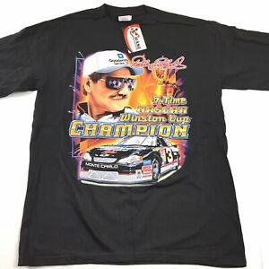 NWT-Chase-Authentics-Vtg-2001-Dale-Earnhardt-7-Time-Nascar-Winston-Cup-Champ-Tee