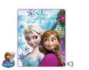 Ana et Elsa Plaid polaire La Reine des Neiges couverture enfant Disney Frozen