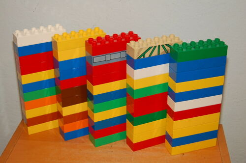 Lot of 50 Lego Duplo 2x6 Bricks Blocks assorted colors