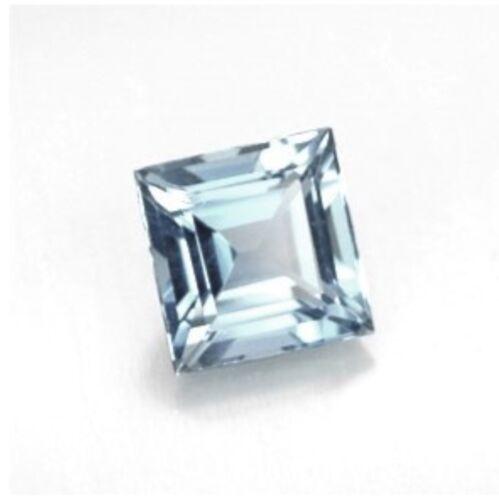"""Acquamarina NATURALE un 1.5mm x 1.5mm Square Cut Gem Gemstone """"A"""" grade"""
