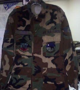 US ARMY CAMO BDU SHIRT COAT DESERT CAMOUFLAGE COMBAT XSMALL NSN 8415-01-327-5297