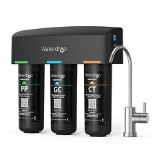 Waterdrop TSB 3-Stage High Capacity Under Sink Water Filter, with Dedicated Fauc