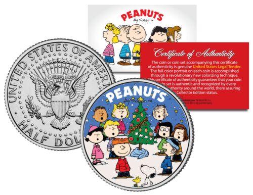 Peanuts CHRISTMAS TREE CAROLERS Coin U.S JFK Half Dollar CHARLIE BROWN /& SNOOPY