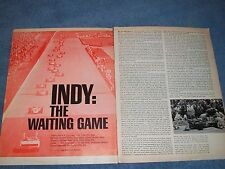 "Vintage 1967 52nd Running of the Indy 500 Article ""Indy: The Waiting Game"""