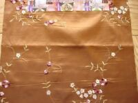 Silver Sequence Gold Rose Cushion Brown Pillow Cover