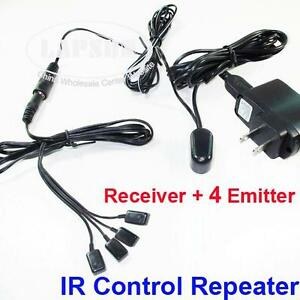 Details about IR Infrared Remote Extender Control System Repeater 4 Eye  Emitter Receiver U104