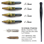 Foundational /& Italics Speedball Calligraphy Pen with 6 Nibs for Roman Capitals