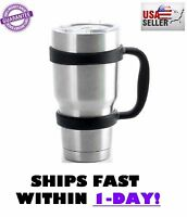 Handle For 30 Oz Yeti Rtic Ozark Tumbler Rambler Coffee Cup Black Travel Mug