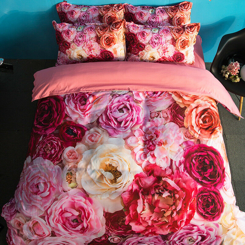 3D Natural Flower 808 Bed Pillowcases Quilt Duvet Cover Set Single Queen King CA