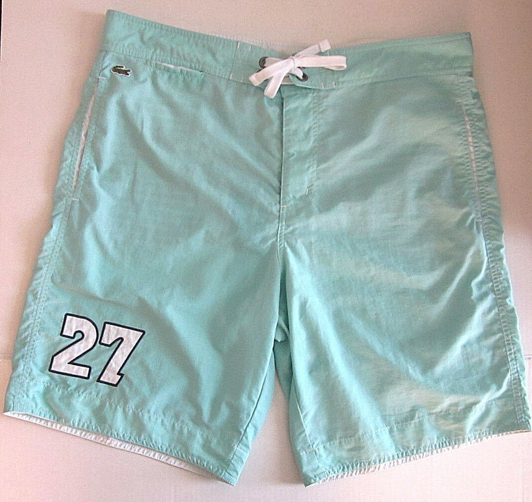 300bf45241 LACOSTE Men's Green Shorts Trunks Board Shorts L Large RARE Swim Mint  nafjud1559-Swimwear