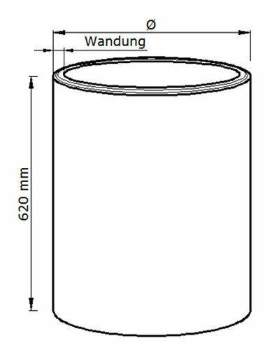 Holzröhre MDF Länge 620 mm Wandung 10 mm