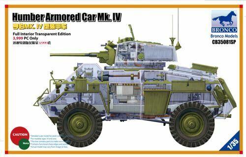Bronco 1 1 1 35 Humber Mk. IV Autoblindo Completo Interiore Trasparente  Cb35081sp a5aa38