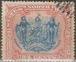 NORTH-BORNEO-1897-24c-ARMS-OF-BRITISH-NORTH-BORNEO-COMPANY-CTO-CAT-RM-180-AS-PU