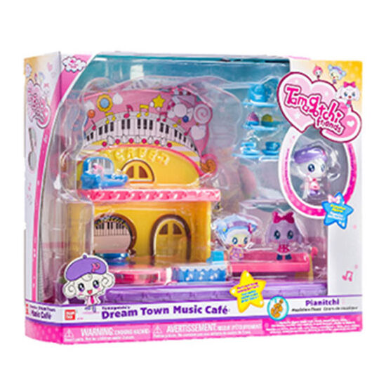 TAMAGOTCHI DREAM TOWN Music Cafe Play Set: Pianitchi Exclusive Figurine: RRP £25