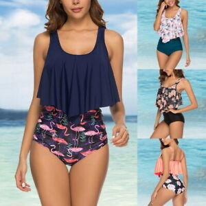 Women-Push-Up-Padded-Bra-Bikini-Set-High-Swimsuit-Bathing-Suit-Swimwear