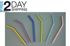 250 Pcs Dental Disposable Air Water Syringe Tips Assorted Colors Clear