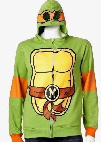 MICHELANGELO hoodie costume sweatshirt NEW men/'s TMNT mens full zip up LARGE L