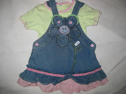 Body  Gr /%/%/%/%*NEU* Süße Kombis Baby Mädchen Jeans Latzrock o Latzhose 56 62