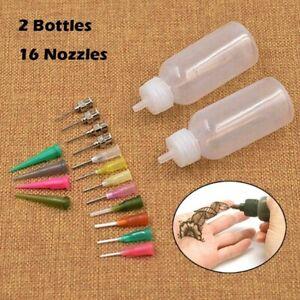 DIY-Crafts-Henna-Kit-Applicator-Bottle-Paste-Tattoo-Body-Art-Nozzle-Drawing-Tool