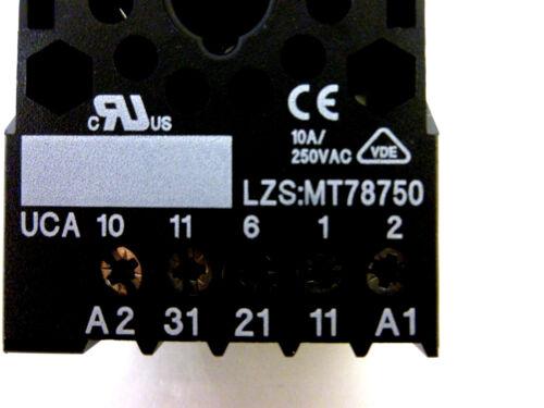 Siemens Stecksockel LZS:MT78750 Baubreite 38mm für Hutschiene 11-pol Neu