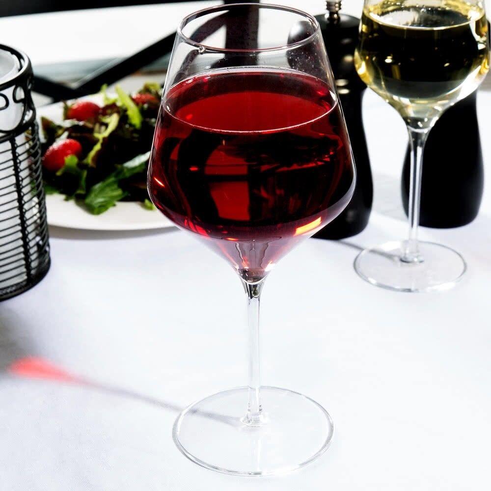 Lot de 12 tiges Rouge Verres à vin, Angulaire Design Large Bol avec Conique Haut 24 oz (environ 680.38 g)