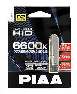 PIAA HID-D2S D2R D2U HEADLIGHT BULBS 2PC 12V 24V 6600K HL661 4960311026419