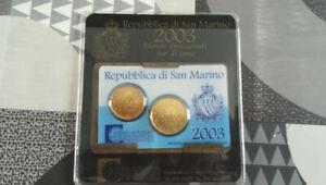 COFFRET MONNAIE - 20 & 50 CENTIMES EUROS - SAN MARIN - 2003