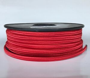 Red-Parallel-Rayon-Covered-Wire-Antique-Style-Cloth-Lamp-Cord-Vintage-Lights