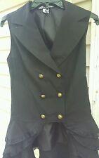 spin doctor hell bunny Beatrix waist coat ruffle Gothic Victorian women's S