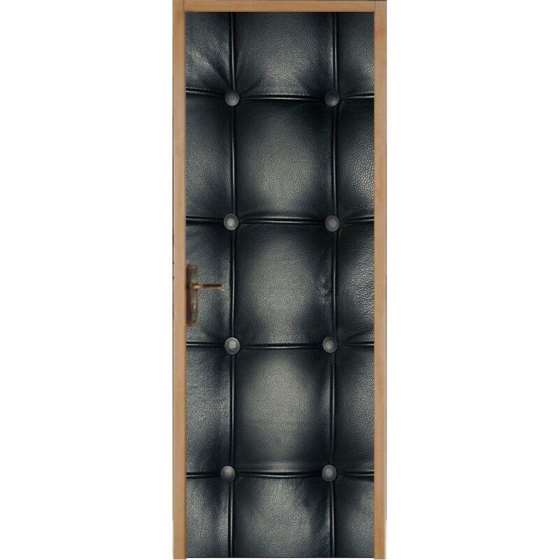 Aufkleber für Tür Flach, Gepolstert Schwarz 314