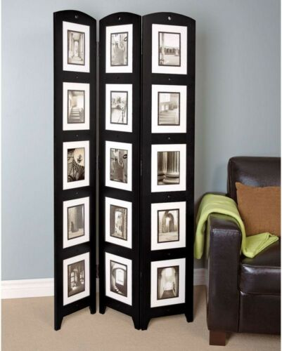 Room Divider Screen 3 Panel Privacy Folding Picture Collage Frame Decorative