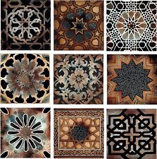Old World Kitchen Back Splash Ceramic Decorative Accent Tile Set of 9 Artistic