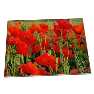 Red poppies flowers glass chopping board 071 remembrance day image is loading red poppies flowers glass chopping board 071 remembrance mightylinksfo