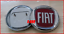 KIT-LOGO-STEMMA-FREGIO-FIAT-ANTERIORE-95-POSTERIORE-85-ROSSO-PANDA-GRANDE-PUNTO miniatuur 2