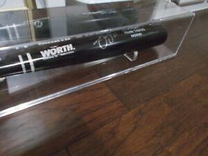 Frank Thomas Autographed Wood Worth Black Baseball Bat in Display Case & C.O.A.