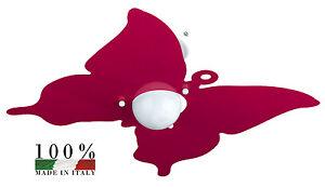 Plafoniera Cameretta Bambini : Plafoniera in metallo basso consumo colore fucsia per camerette