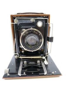 ZEISS-IKON-FAVORIT-266-7-WOODEN-FOLDING-BED-CAMERA-with-JENA-TESSAR-150MM-F4-5