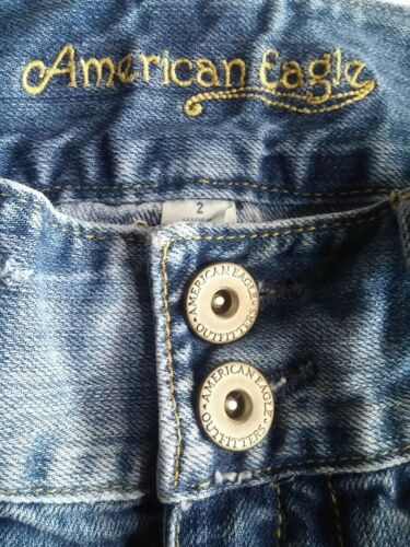 Women's Destroyed Eagle American Size 2 Distressed Denim Mini Outfitters Skirt 7afUqqxF6w
