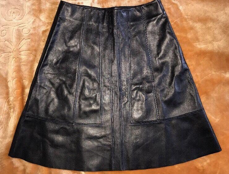 1795 Proenza Schouler Leather Skirt 100% Lamb Skin Made In